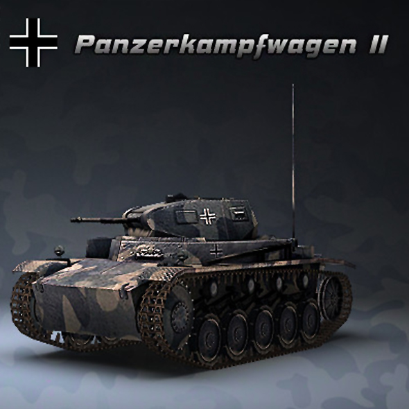 Tank Pz Kpfw II - 3DOcean Item for Sale
