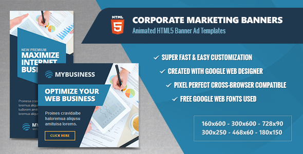 Corporate Marketing Banners - HTML5 Animated Ads - CodeCanyon Item for Sale