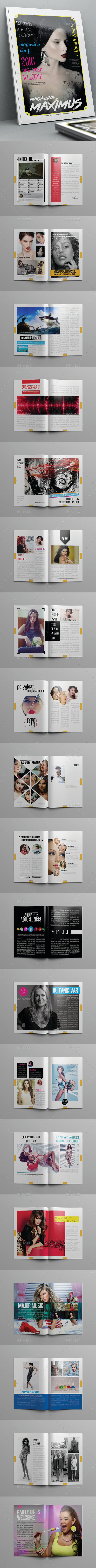 Maximus Magazine Template 40 Pages - Magazines Print Templates