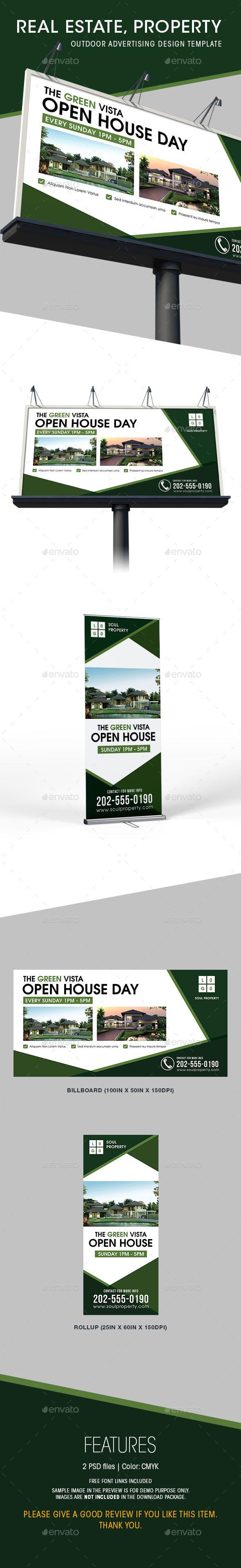 Real estate billboard design samples - Real Estate Billboard Rollup Templates Signage Print Templates