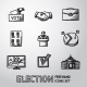 Set of Handdrawn Election Icons - GraphicRiver Item for Sale