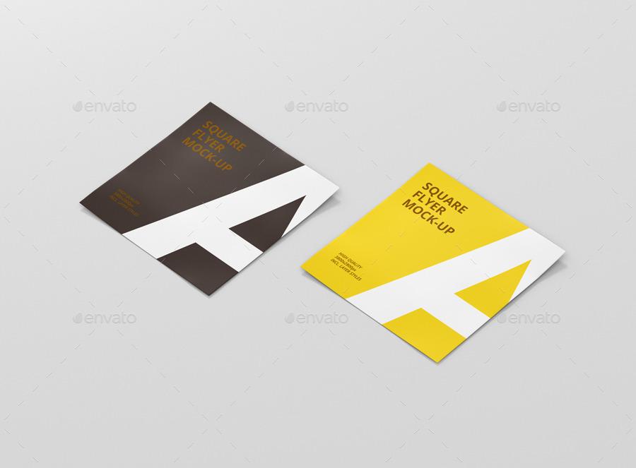 Square Flyer Mock-Up by visconbiz   GraphicRiver