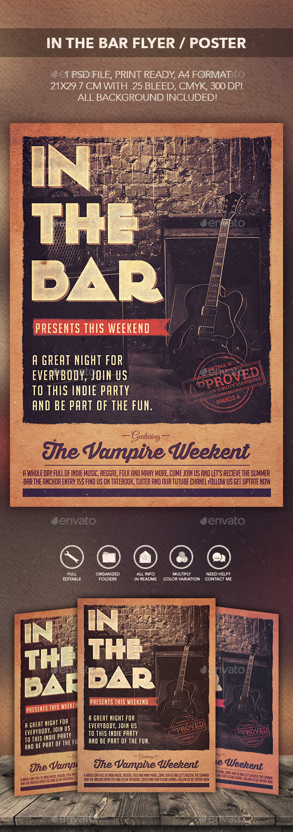In The Bar Flyer Poster - Print Templates