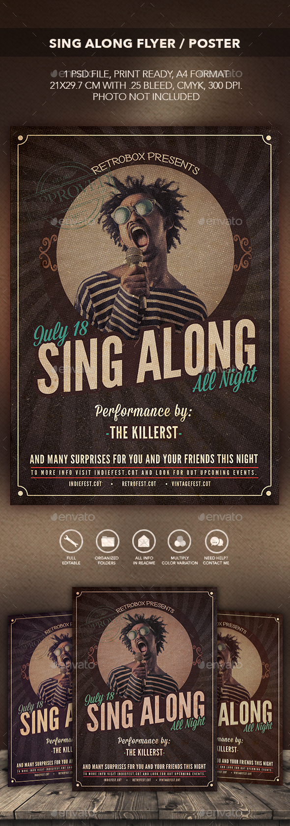 Sing Along Flyer Poster - Flyers Print Templates