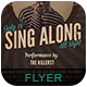 Sing Along Flyer Poster - GraphicRiver Item for Sale