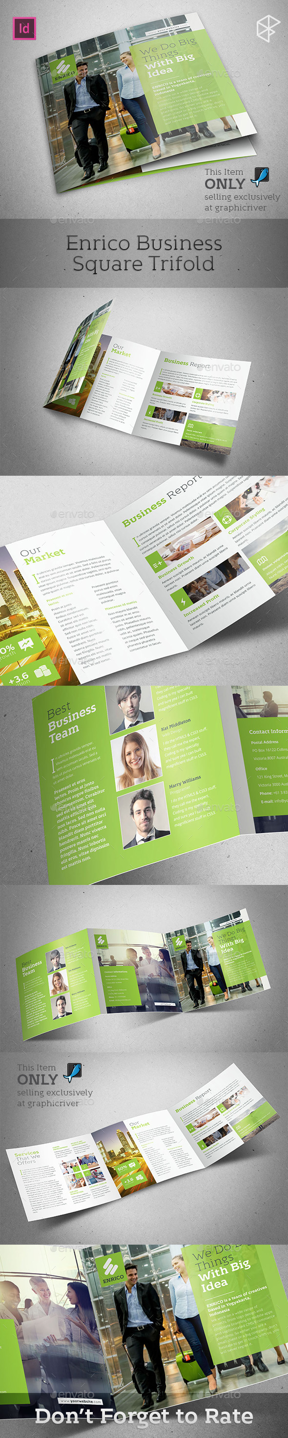 Enrico Business Square Trifold - Corporate Brochures