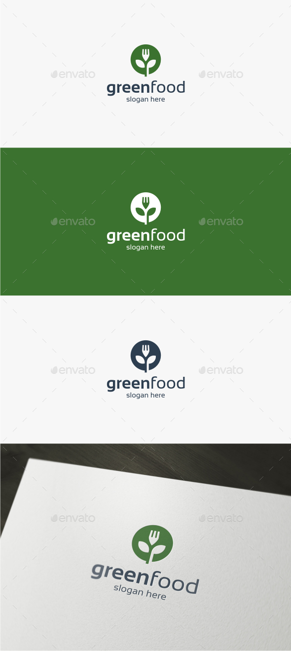 Green Food - Logo Template - Nature Logo Templates