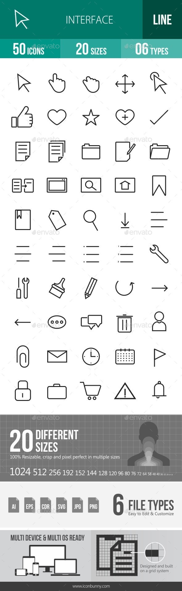 Interface Line Icons - Icons