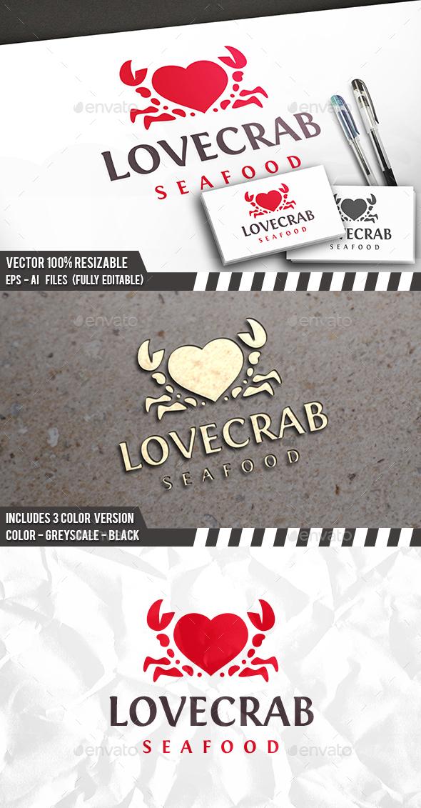 Love Crab Logo - Animals Logo Templates