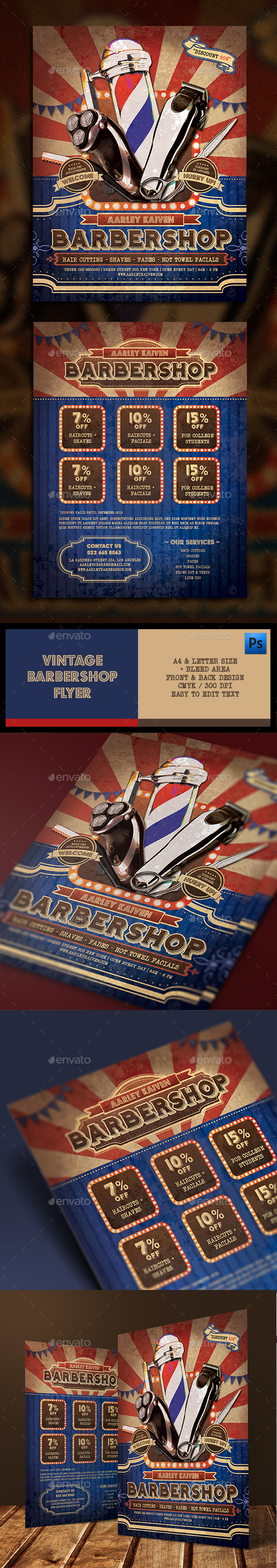Vintage Barbershop Flyer - Corporate Flyers