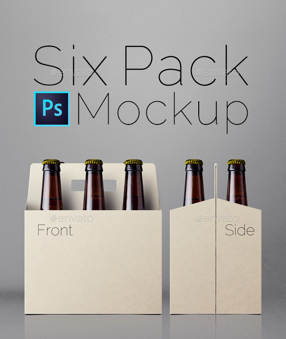 Six Pack Mockup - Food and Drink Packaging