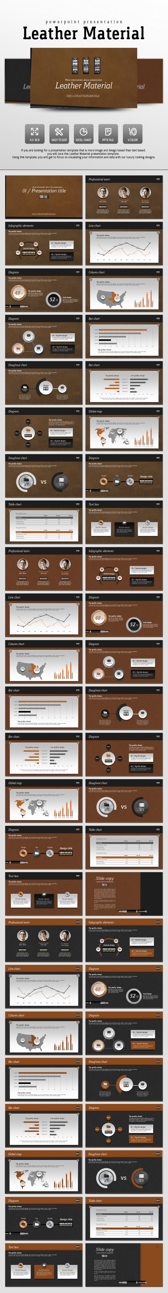 Leather Material - PowerPoint Templates Presentation Templates