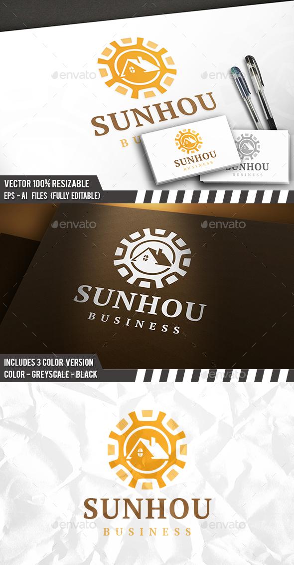 Sun Roof Logo - Buildings Logo Templates