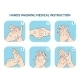 Hands Washing Medical Instruction Vector Icons Set - GraphicRiver Item for Sale
