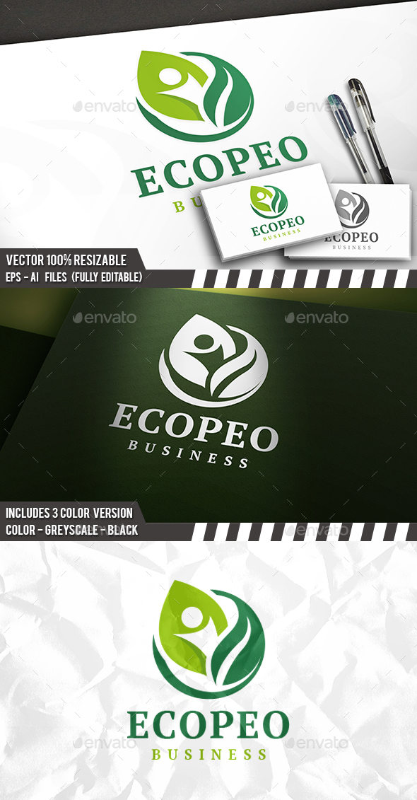 Eco People Logo Template - Nature Logo Templates