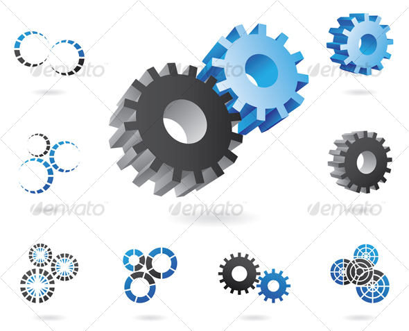 3d cogs - Technology Icons