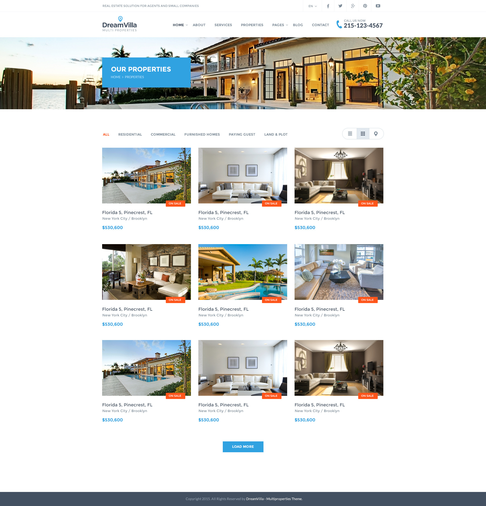 dreamvilla real estate html template by fortunecreations themeforest