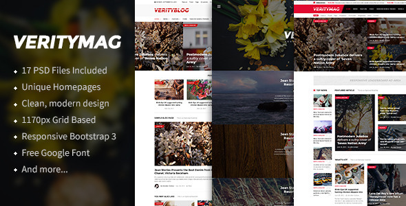 VerityMag – News & Magazine PSD Template