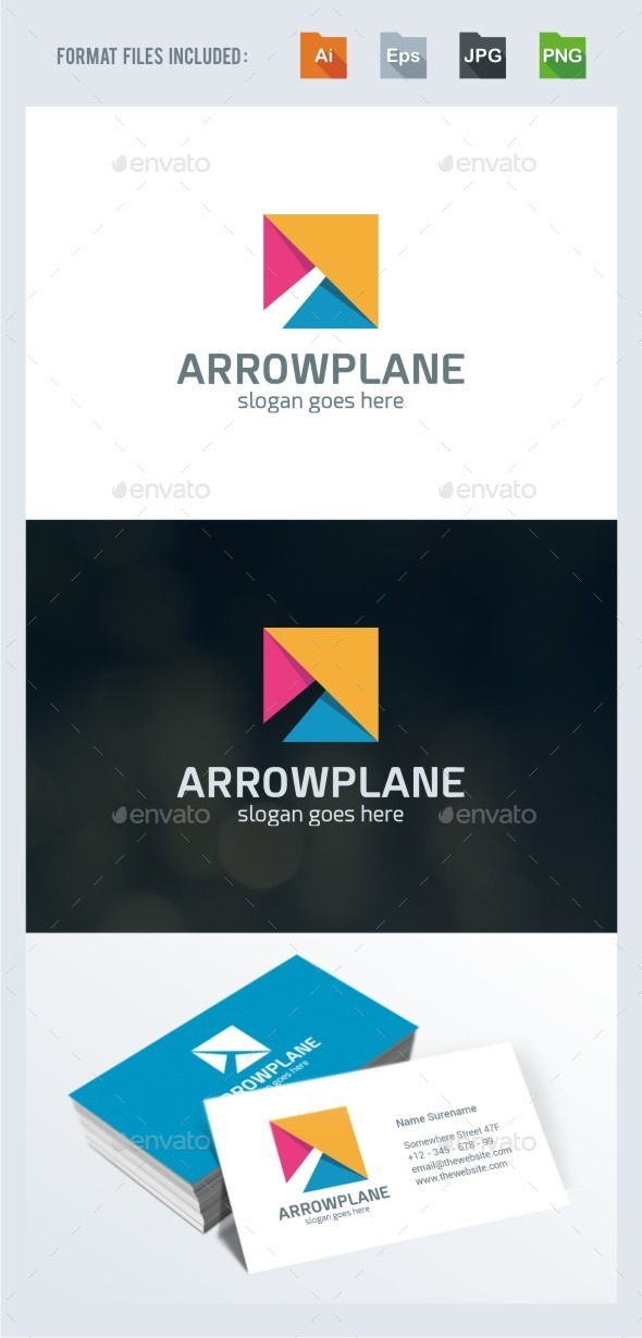Growth - Arrow Logo Template - Vector Abstract