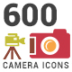 600 Camera Icons Set - GraphicRiver Item for Sale