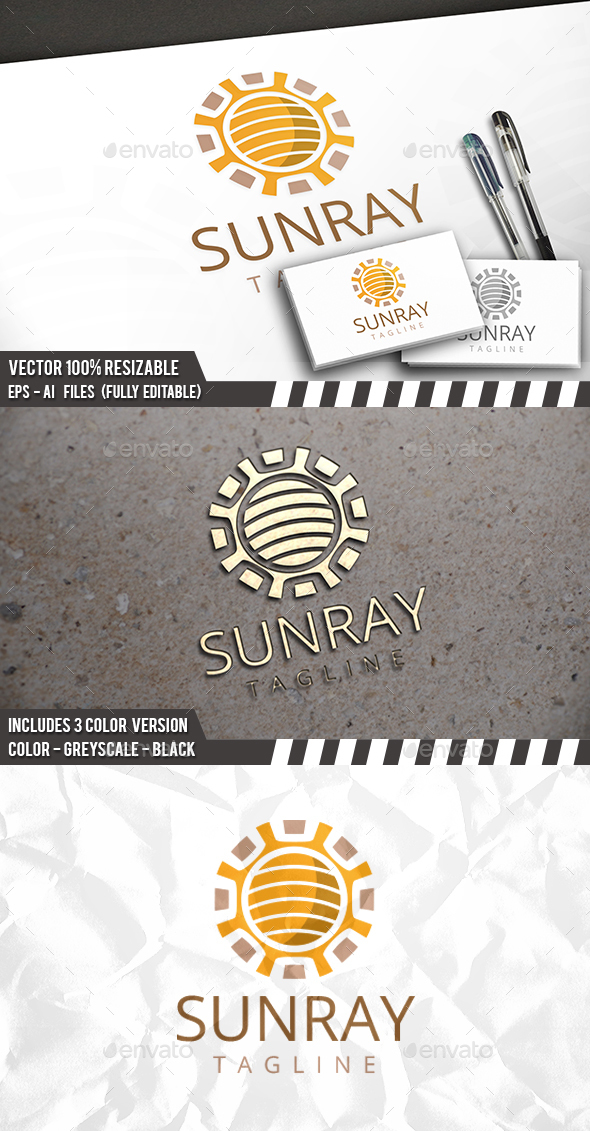 Sun Circle Logo - Nature Logo Templates