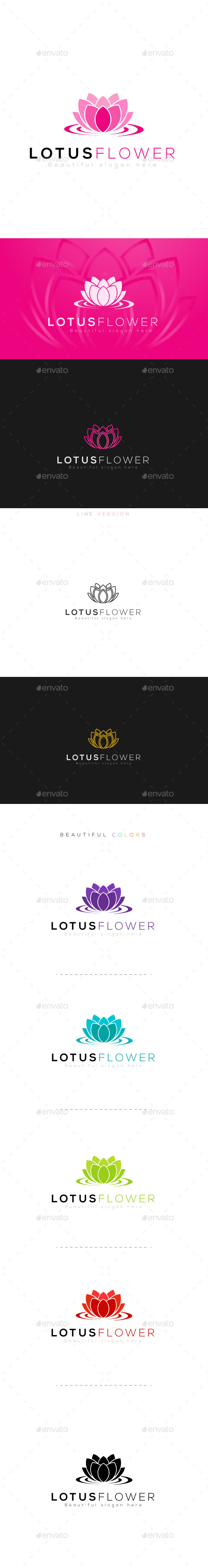 Lotus Flower - Nature Logo Templates