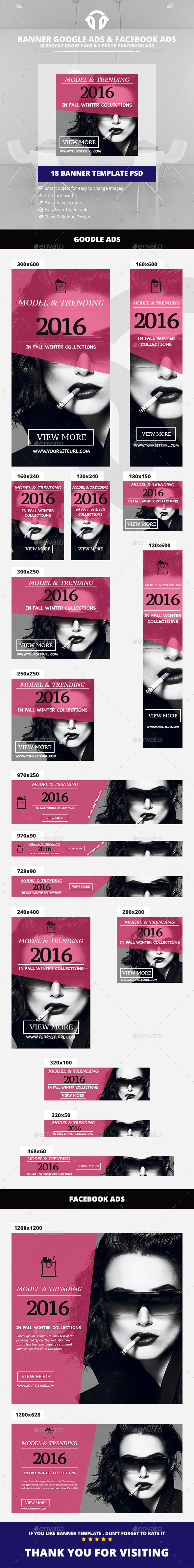 Fashion Banner Ads - Banners & Ads Web Elements
