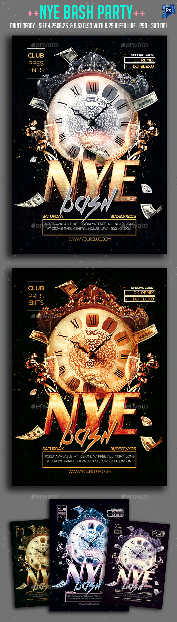 Nye Bash Party Flyer - Clubs & Parties Events