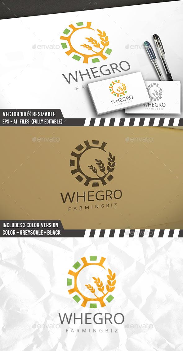 Wheat Grow Logo - Nature Logo Templates