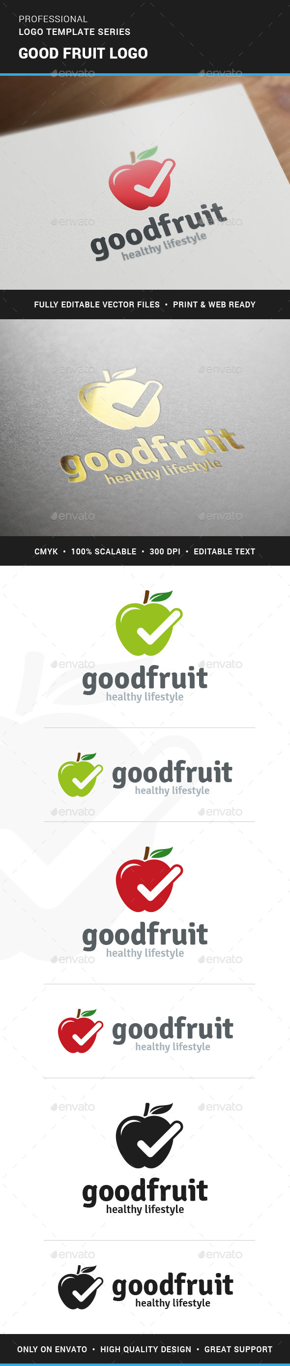 Good Fruit Logo Template - Nature Logo Templates