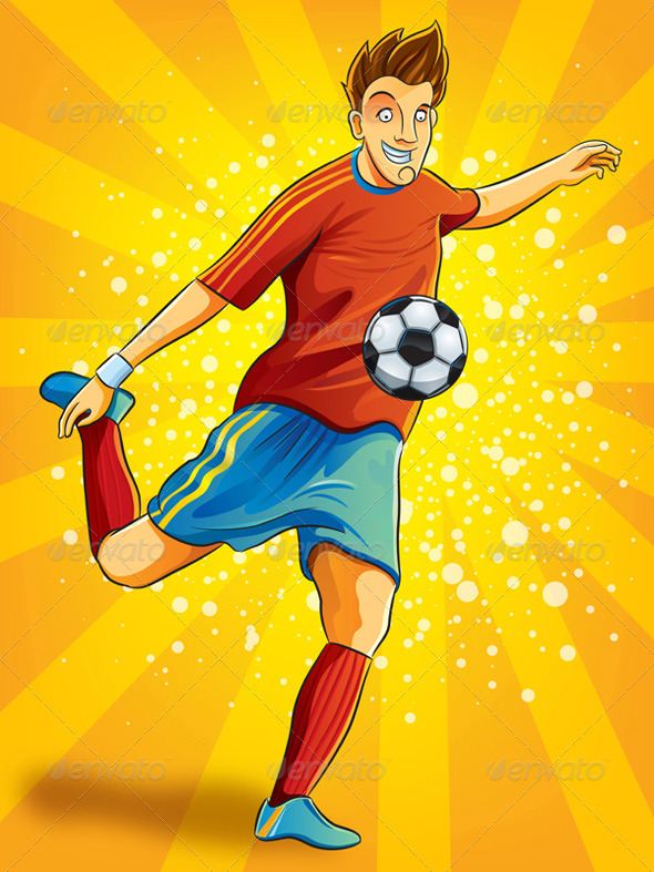 Soccer Player Shooting a Ball - Sports/Activity Conceptual