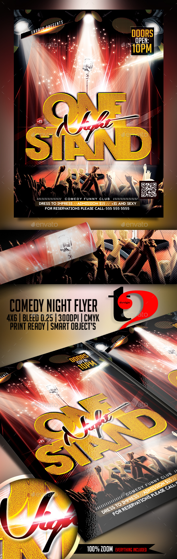 Comedy Night Flyer Template - Clubs & Parties Events