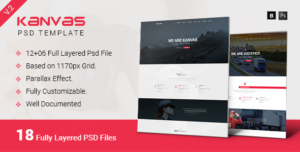 Kanvas Multipurpose Responsive PSD Template
