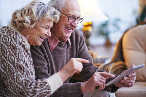 Seniors networking - Stock Photo - Images