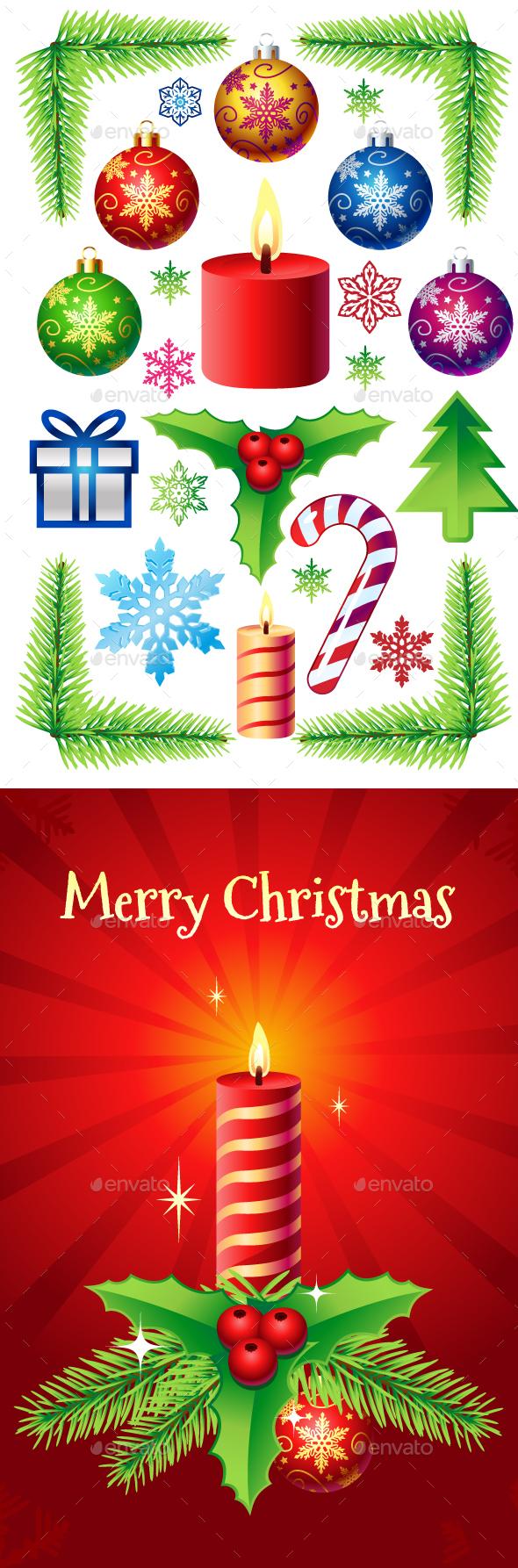 Christmas Decorations Set - Christmas Seasons/Holidays