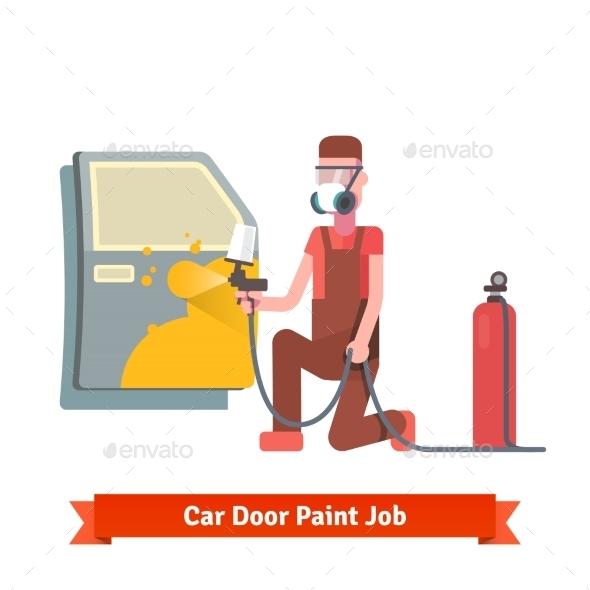 Car Door Paint Job - Services Commercial / Shopping