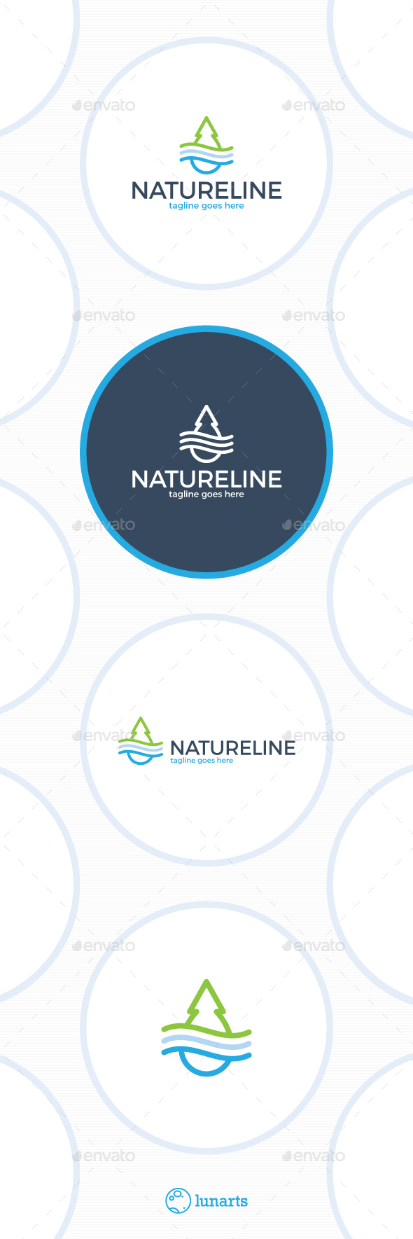 Water Wood Wind Logo - Nature Logo Templates