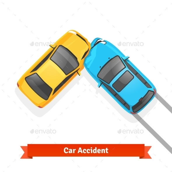 Frontal 90 Degree Car Crash Road Accident - Man-made Objects Objects