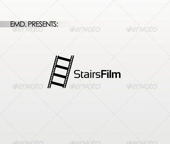Stairs Film Logo - Symbols Logo Templates