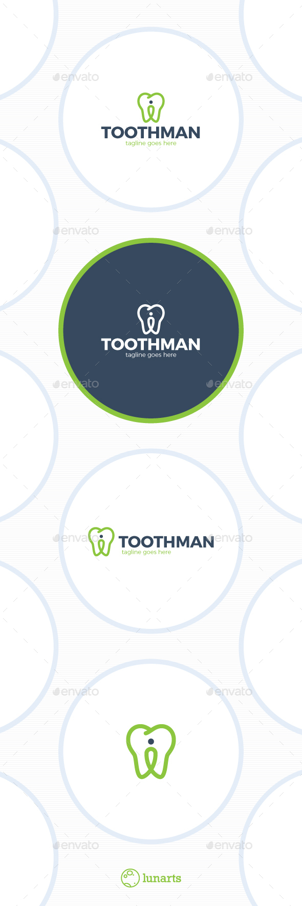 Dental Location Logo - Tooth Pin - Symbols Logo Templates