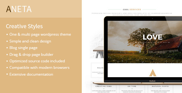 Aneta – Modern Multipurpose WordPress Theme