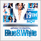 Blue and White Anniversary Birthday Party - GraphicRiver Item for Sale