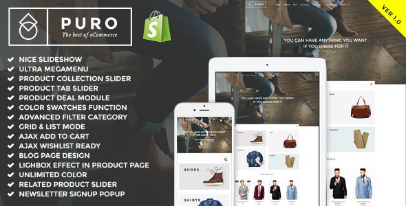 Puro - Responsive Shopify Theme