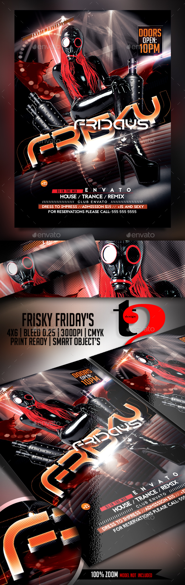 Frisky Fridays Flyer Template - Clubs & Parties Events
