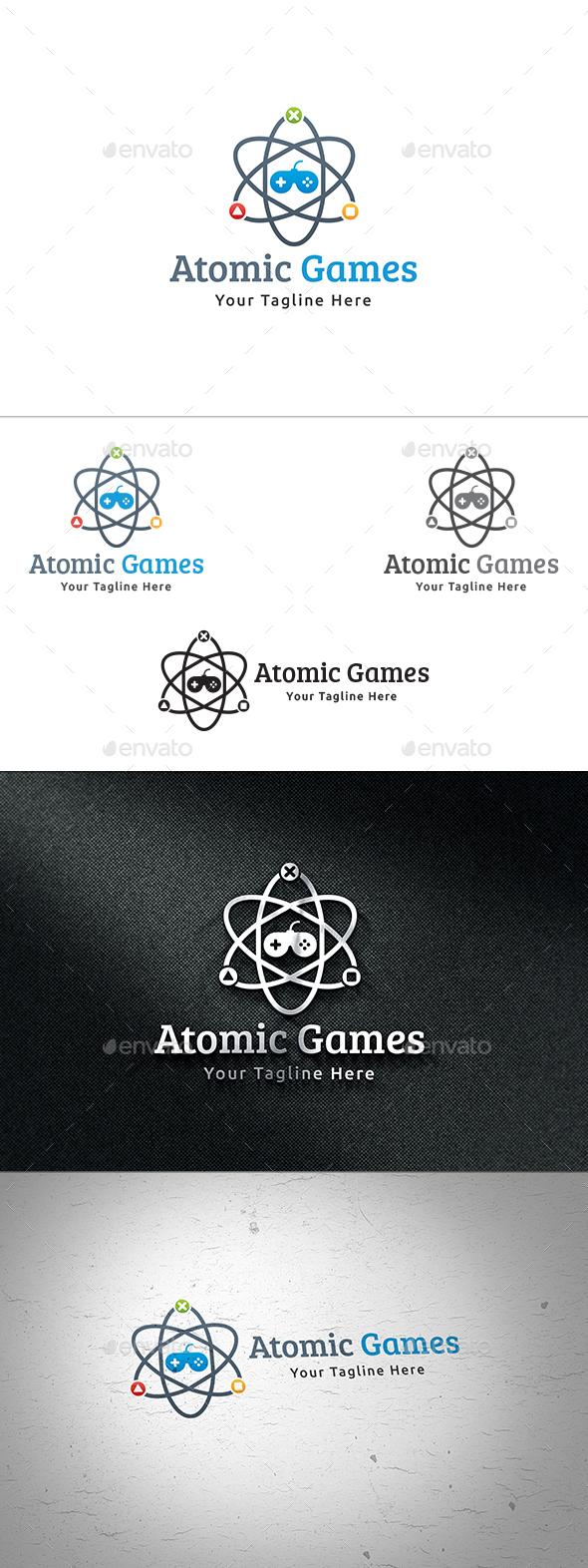 Atomic Games Logo - Symbols Logo Templates