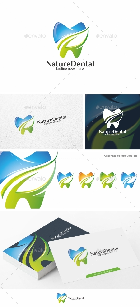 Nature Dental / Teeth - Logo Template - Symbols Logo Templates