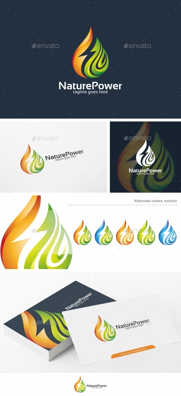 Nature Power - Logo Template - Nature Logo Templates