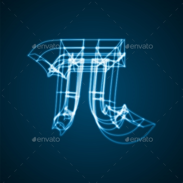 The Mathematical Constant Pi - Tech / Futuristic Backgrounds