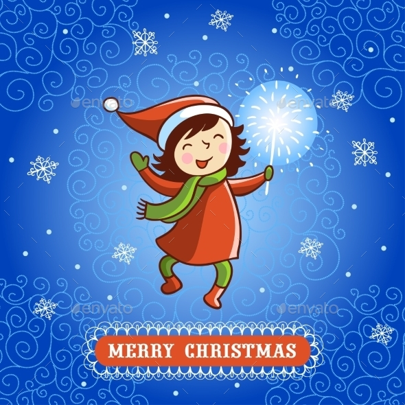 Seamless Vector Greeting Christmas Card - Christmas Seasons/Holidays