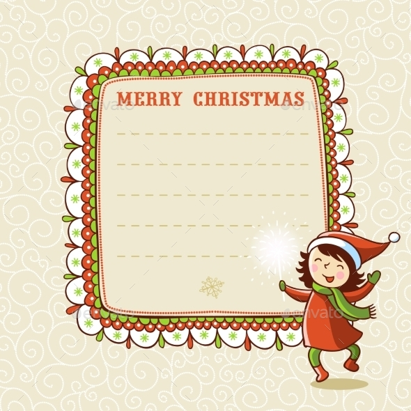 Christmas Card with Textbox - Christmas Seasons/Holidays
